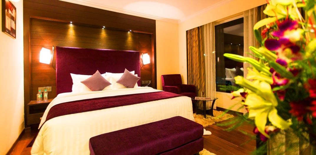Premium rooms at the Sterlings Mac Hotel, Bangalore, India